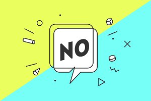 No. Banner, speech bubble
