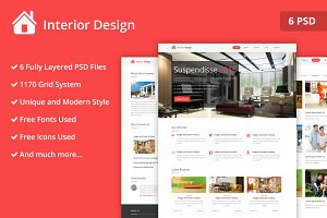 Interior Design PSD Website Template