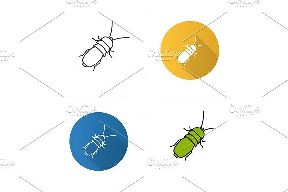 Stink beetle icon