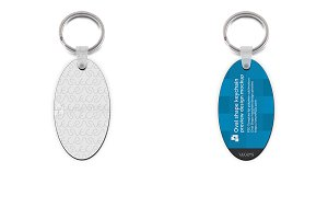 Oval Shape Keyring Design Mockup - 2