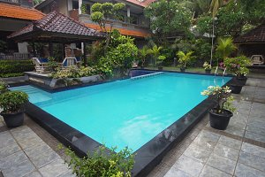 Outdoor pool in the hotel.