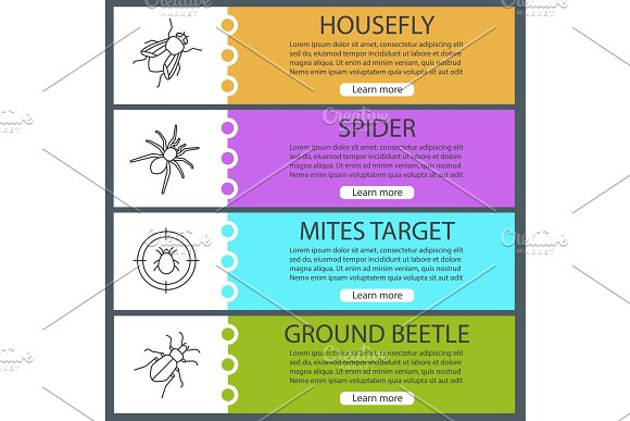 Pest control web banner templates set ~ Product Mockups ~ Creative ...
