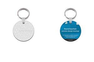 Round Shape Keyring Design Mockup