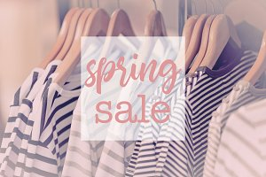 Shopping Spring Sale Promotion