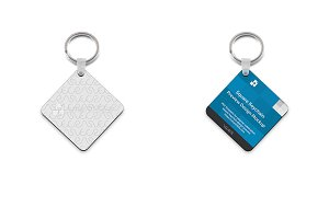 Square Shape Keyring Design Mockup