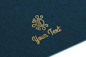 Gold Logo MockUp Ver.2