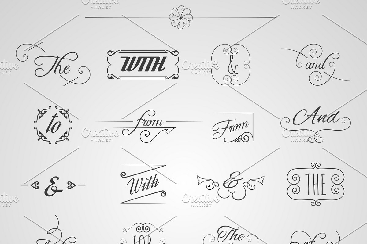 Catchwords and ampersand set in Icons - product preview 8