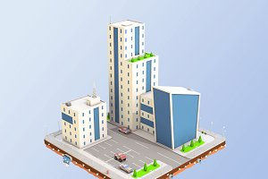 Low Poly City Buildings