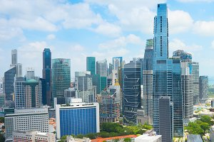 Cityscape of modern Singapore Downto