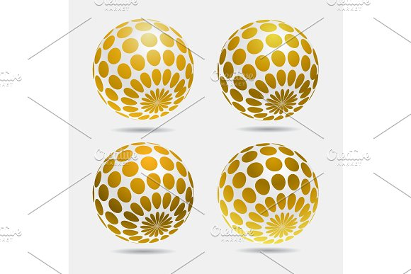 gold decorative balls.