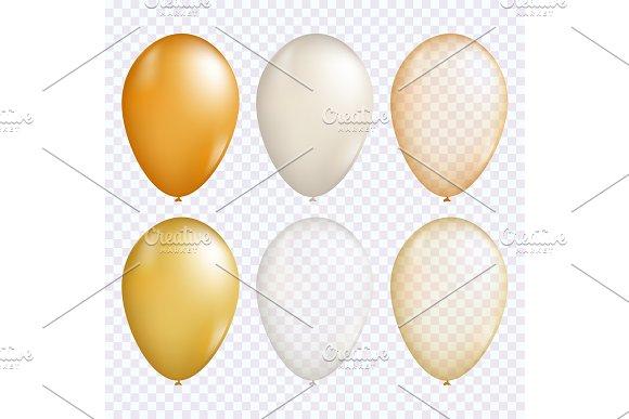 Gold Balloon Vector Set