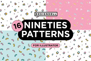 Nineties Illustrator Patterns