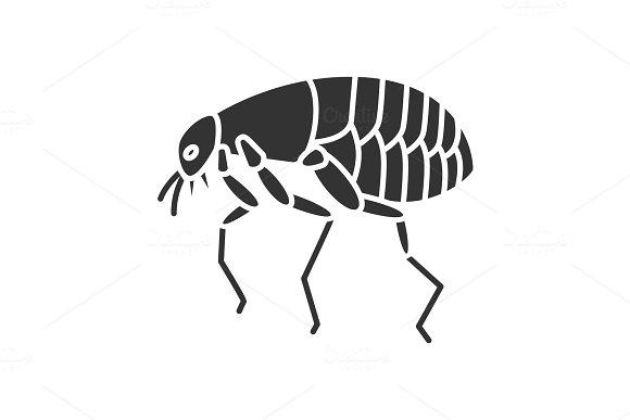 Flea Glyph Icon