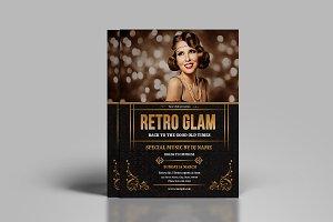 Retro Glam Party Flyer V773
