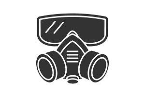 Respirator glyph icon
