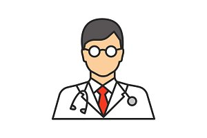 Doctor color icon