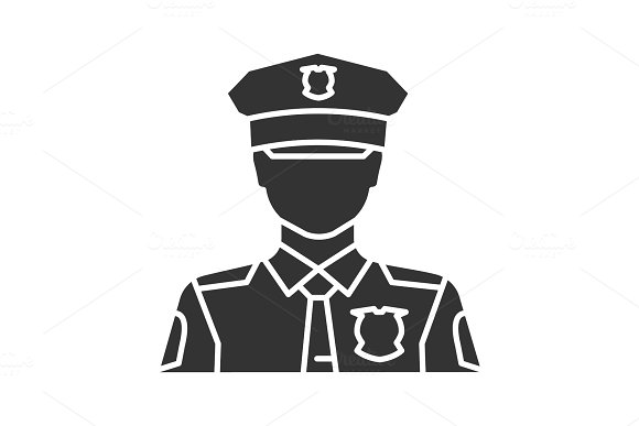Policeman Glyph Icon