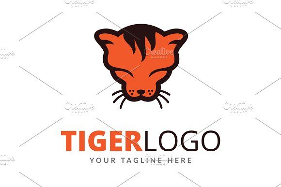 Tiger Logo Design Template