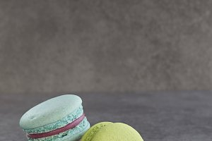 colourful french macaron vintage sty