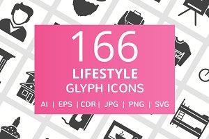 166 Lifestyle Glyph Icons