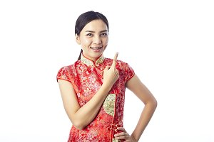 Chinese new year Asian girl