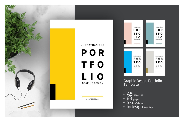 Graphic Design Portfolio Template Creative Indesign Templates Creative Market
