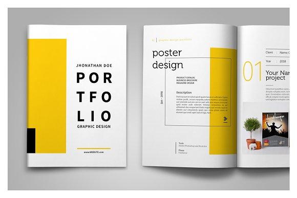 Graphic Design Portfolio Template Creative Indesign Templates Creative Market,Interior Design Process Phases