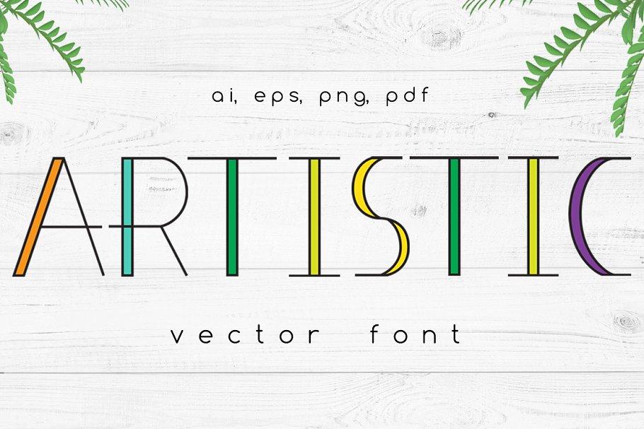 Artistic Vector Font
