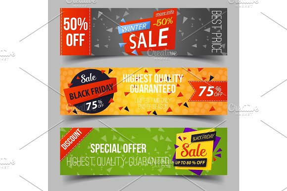 Black Friday Or Retail Sale Advertising Tags