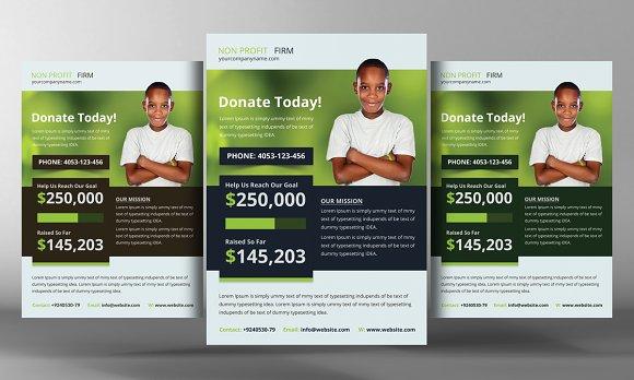 Charity Donation Flyer Templates Flyer Templates Creative Market