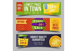 Set of isolated labels for limited winter offer