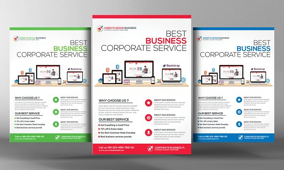 computer consulting flyer template