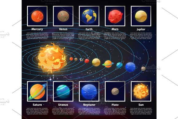 Cosmic And Solar System Universe Infographic