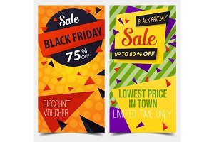 Set of isolated labels or tags for black friday
