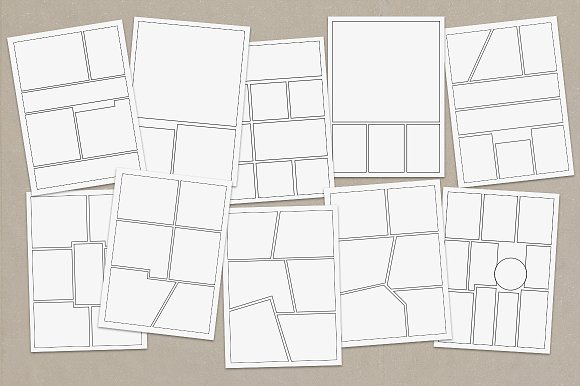 Vector Comic Strip Templates Objects on Creative Market – Comic Strip Template