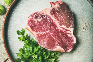 T-bone prime beef meat steak