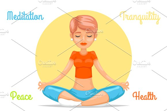 Meditation Cute Female Girl Yoga