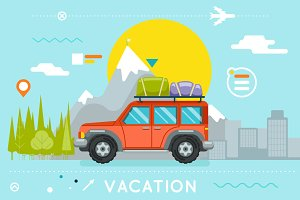 Travel Concept Summer Vacation car