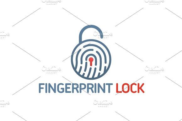 Fingerprint Lock Logo