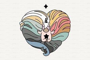 ♥ vector Cute scandi unicorn