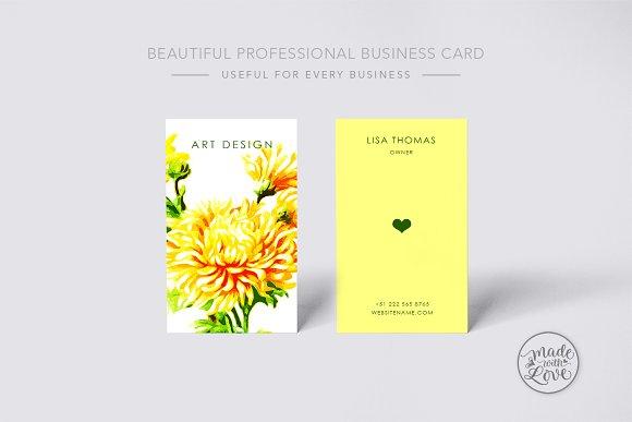 Beautiful Creative Art Business Card