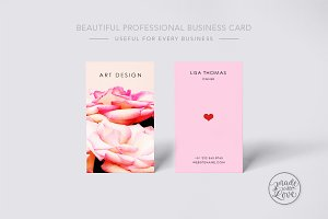 Beautiful creative art business Card