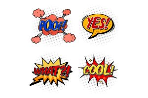 Set of comic bubble speech, onomatopoeia