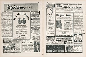 Newspaper with antique advertising