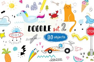 doodle set 2 (80 objects)