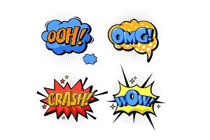 Bubble speech for onomatopoeia and comic book