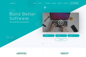 High Converting PSD Landing Page