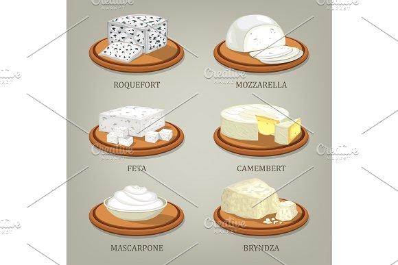 Roquefort And Mozzarella Feta Or Camembert