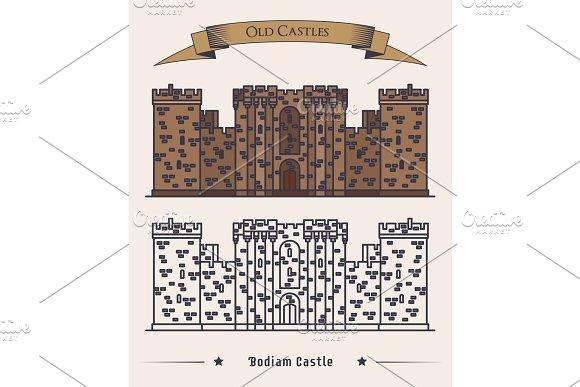 United Kingdom Landmark Bodiam Castle