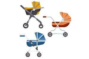Folding stroller or newborn baby, infant carriage